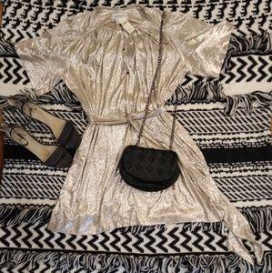 Anthropologie Sabina Musayev shimmer dress.
